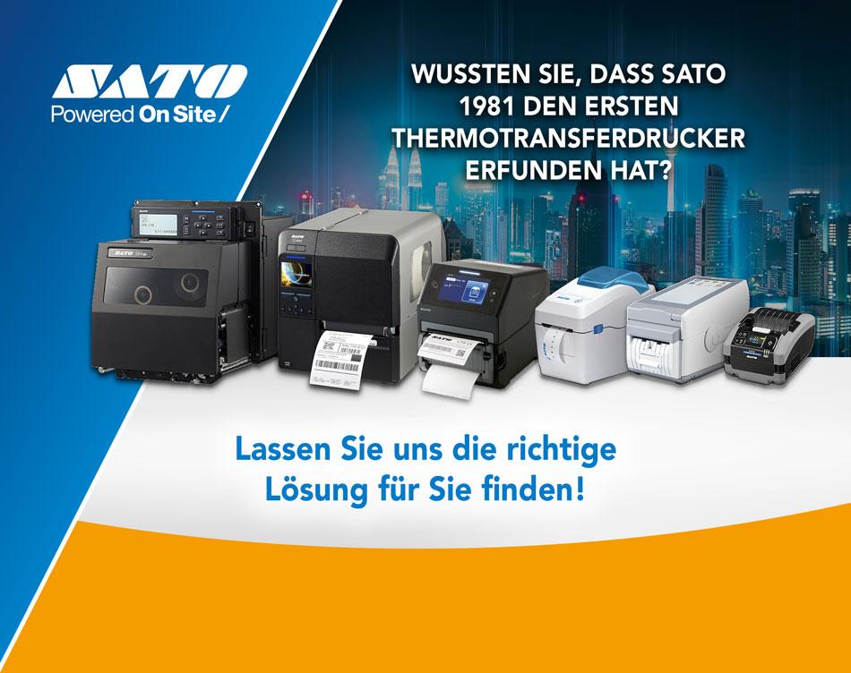 Wussten Sie, dass SATO 1981 den ersten Thermotransferdrucker erfunden hat? Lassen Sie uns die richtige Lösung für Sie finden!