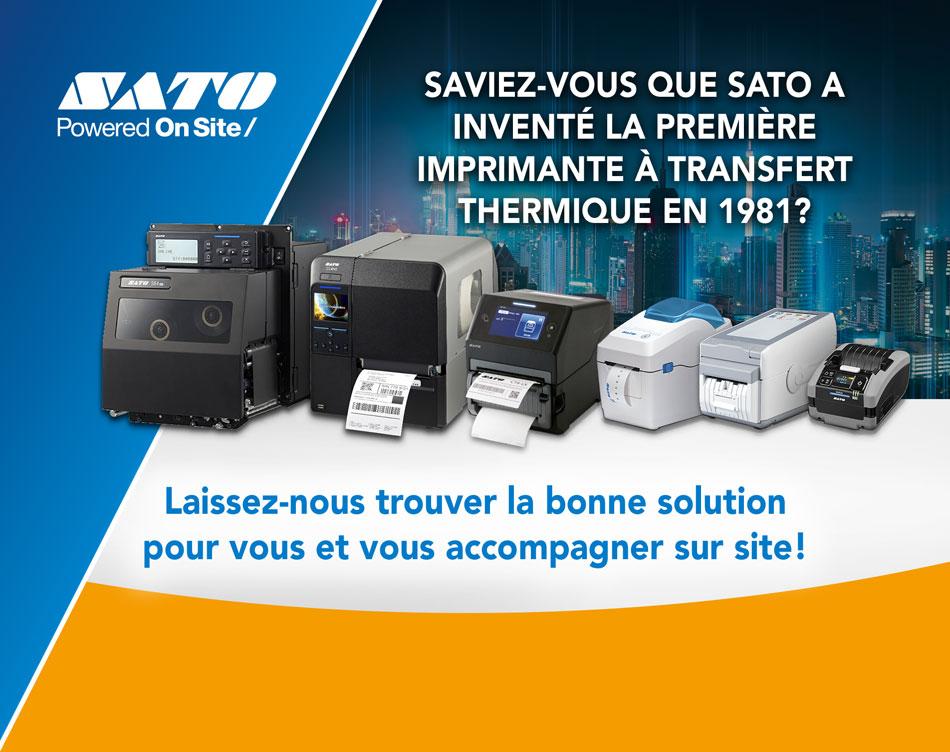 Saviez-vous que SATO a inventé la première imprimante à transfert thermique en 1981? Laissez-nous trouver la bonne solution pour vous et vous accompagner sur site!