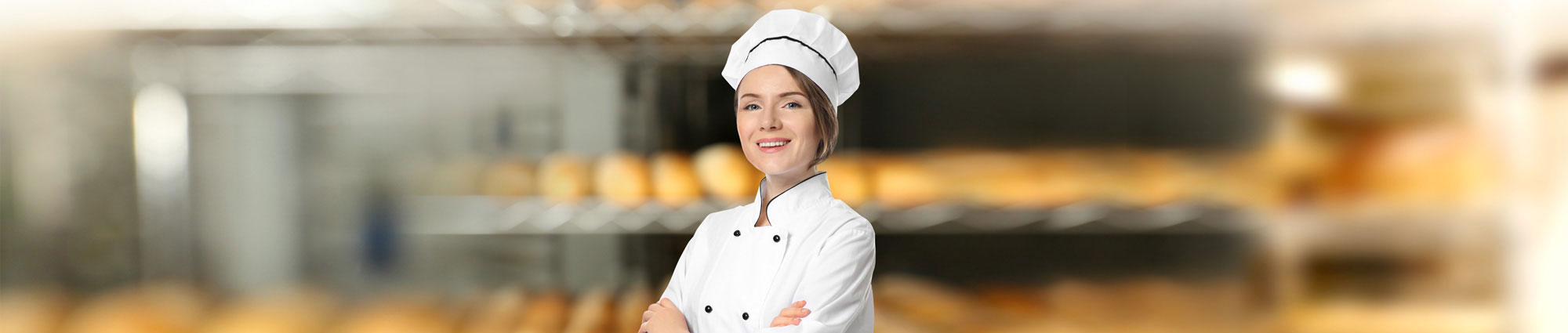 Female staff member in bakery