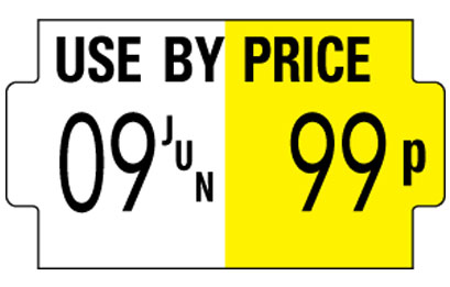 SATO one line handheld label example