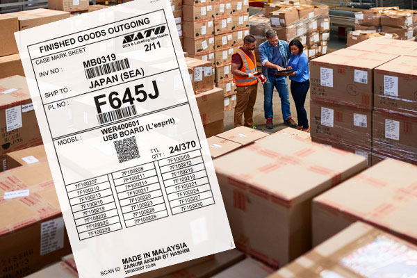 Warehouse storage labels