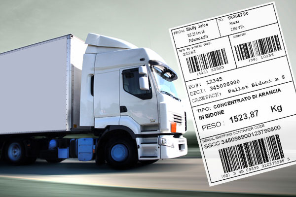 Delivery with tracking label