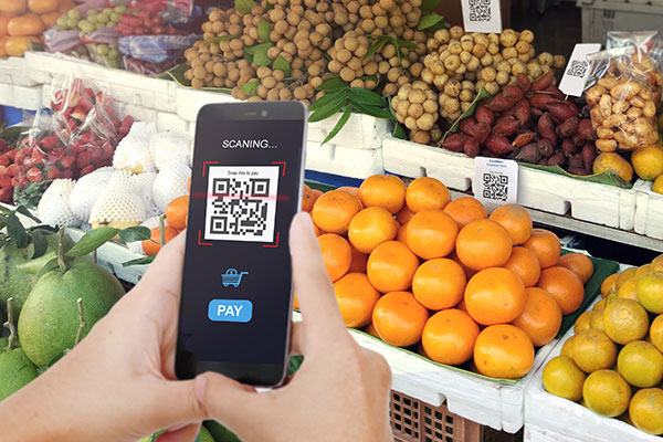 Scanning food with smart phone app