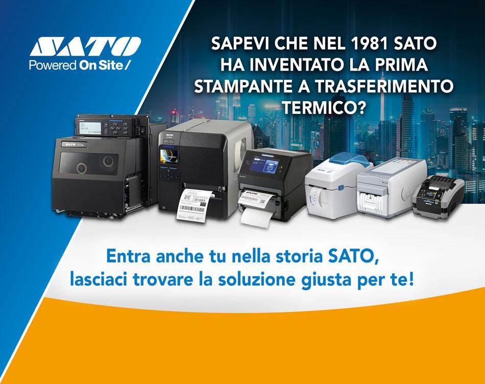 Sapevi che nel 1981 SATO ha inventato la prima stampante a trasferimento termico? Entra anche tu nella storia SATO, lasciaci trovare la soluzione giusta per te!