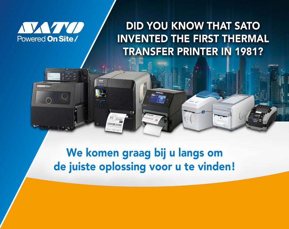 Wist u dat SATO in 1981 de eerste thermische printer heeft uitgevonden? We komen graag bij u langs om de juiste oplossing voor u vinden!