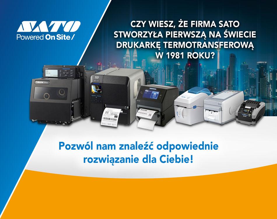 Czy wiesz, że firma SATO stworzyła pierwszą na świecie drukarkę termotransferową w 1981 roku? Pozwól nam znaleźć odpowiednie rozwiązanie dla Ciebie!